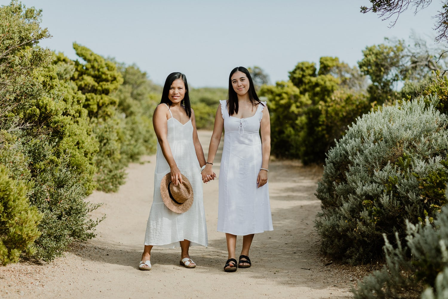 mum and daughter on location photoshoot